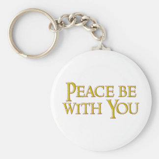 Peace Be With You Basic Round Button Key Ring