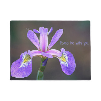 Peace be with You Iris Door Mat