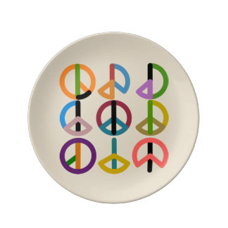 Peace Beat / 21.6 cm Decorative Porcelain Plate