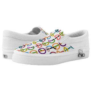 Peace Beat / Custom Zipz Slip On Shoes