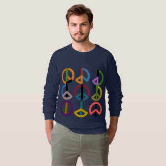 Peace Beat / Men's American Apparel Raglan Sweatshirt