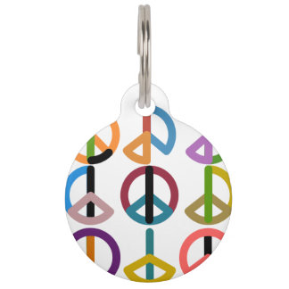 Peace Beat / Round Large Pet Tag