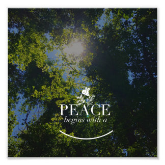 Peace begins.. photo print
