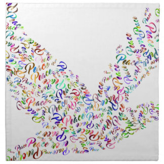 Peace bird flying in harmony and cooperation napkin