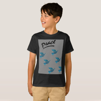 Peace black Kids' Hanes TAGLESS® T-Shirt