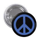 Peace Blue 3 Cm Round Badge