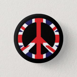 Peace British 3 Cm Round Badge