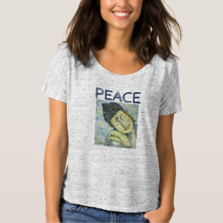 Peace Buddha Art Flowy T-Shirt