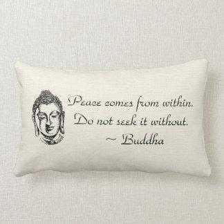 Peace Buddha Quotes Lumbar Pillow