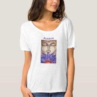Peace Buddha Watercolor Art Flowy T-Shirt
