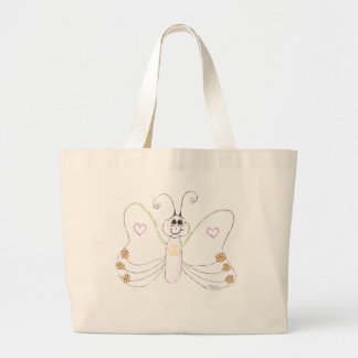 Peace Butterfly hearts flowers Tote Bag