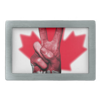 Peace Canada Flag Canadian Parliament Government Belt Buckles