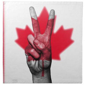 Peace Canada Flag Canadian Parliament Government Napkin