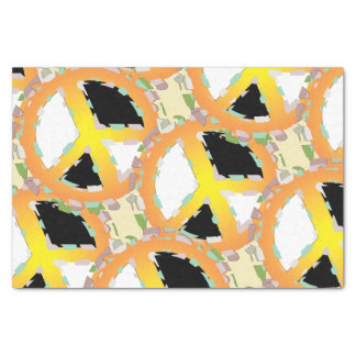 "PEACE CARTOON 10"" x 15""- 10lb Tissue Paper"