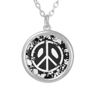 Peace chain silver plated necklace