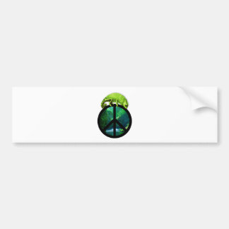 peace chameleon bumper sticker