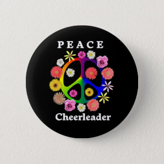 Peace Cheerleader 6 Cm Round Badge