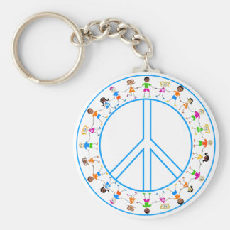 Peace -Children Around The World Basic Round Button Key Ring