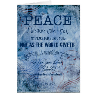 Peace Christian Thank You John 14:27 Card