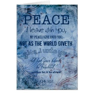 Peace Christian Thank You John 14:27 Greeting Card