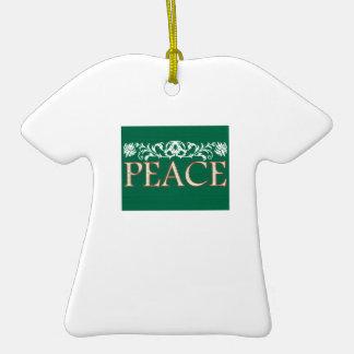 Peace Christmas Tree Ornament