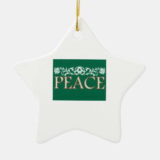 Peace Christmas Tree Ornaments