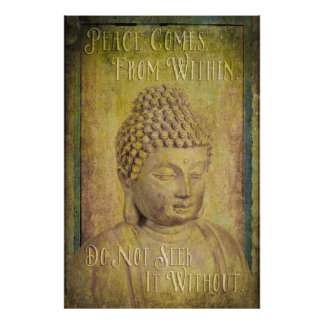 Peace Comes from Within Buddha Quote Photographic Print