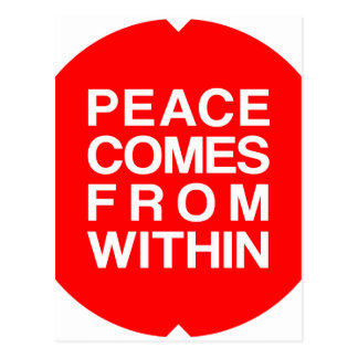 Peace Comes From Within Postcard
