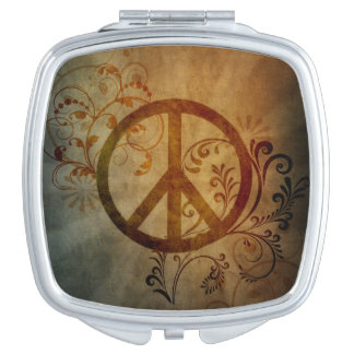 peace compact mirror