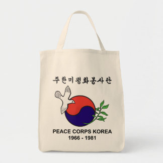 Peace Corps Korea Grocery Tote Grocery Tote Bag