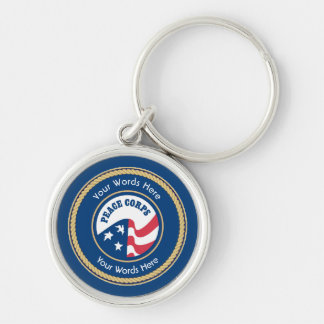 Peace Corps Universal Rope Shield Key Ring