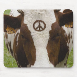 Peace-Cow Mouse Pad