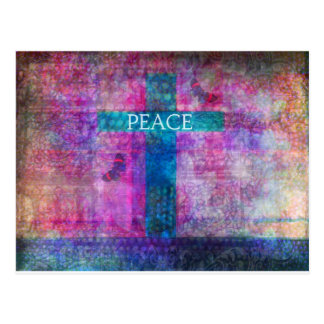 PEACE CROSS Contemporary Christian art Post Card