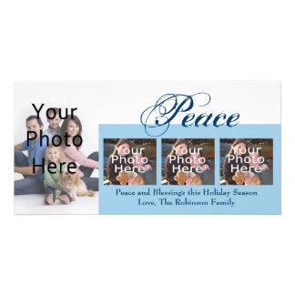 Peace Custom Christmas or Hanukkah Photo Cards