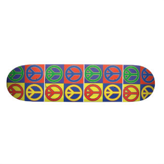 peace custom skateboard