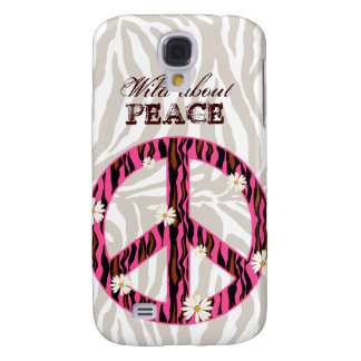 PEACE Daisy Flower iPhone 3 Cover pink zebra