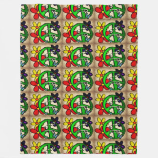 Peace Design Fleece Blanket