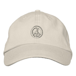 Peace Doodle Embroidered Hat
