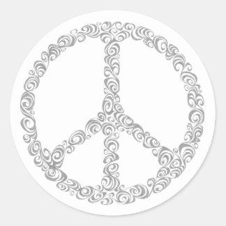 Peace doodle - sticker