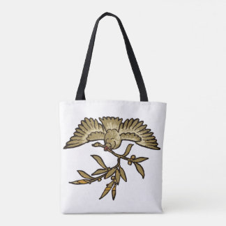 Peace Dove Antique Tote Bag