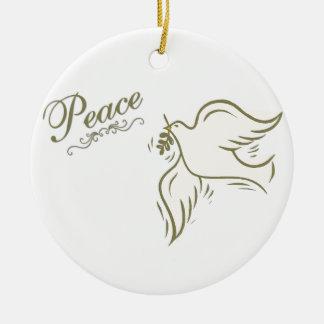Peace Dove Ceramic Ornament