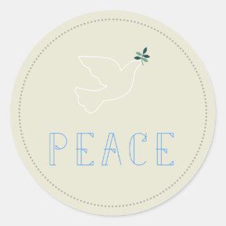 Peace Dove Christmas Xmas Holiday Greetings Label