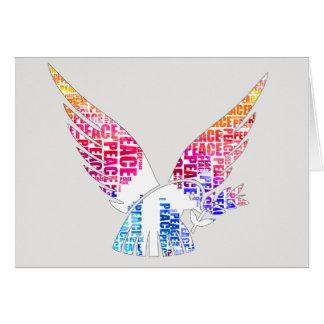 Peace Dove. Harmony Hippie Watercolor Card