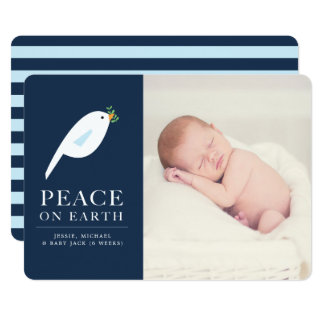 Peace Dove Holiday Photo Card
