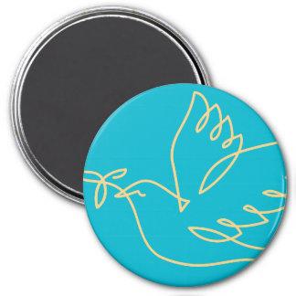 Peace Dove Icon 7.5 Cm Round Magnet