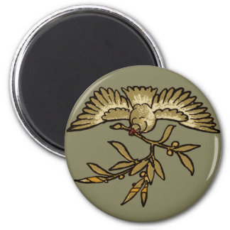 Peace Dove Olive Branch Magnet