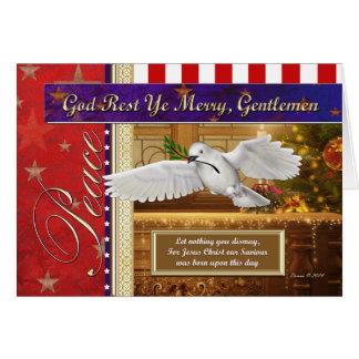 Peace Dove Patriotic Christmas Card