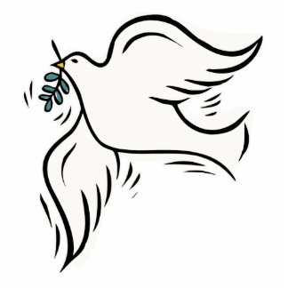 Peace Dove Standing Photo Sculpture