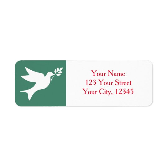 Peace Dove Return Address Label