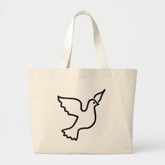 Peace Dove Jumbo Tote Bag
